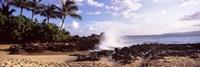 "Rock formations at the coast, Maui Coast, Makena, Maui, Hawaii, USA by Panoramic Images - 27"" x 9"""
