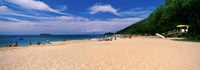 "Tourists on the beach, Makena Beach, Maui, Hawaii by Panoramic Images - 27"" x 9"""