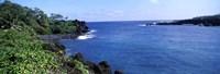 "Black Sand Beach, Hana Highway, Waianapanapa State Park, Maui, Hawaii by Panoramic Images - 27"" x 9"" - $28.99"