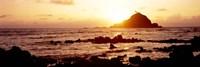 Rock formations on the coast, Aloo Island, Hana, Maui, Hawaii, USA Fine Art Print