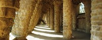 """Architectural detail, Park Guell, Barcelona, Catalonia, Spain (horizontal) by Panoramic Images - 27"""" x 9"""""""