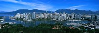 Aerial view of a cityscape, Vancouver, British Columbia, Canada 2011 Fine Art Print