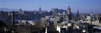 High angle view of buildings in a city, Edinburgh, Scotland Fine Art Print