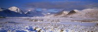 """Snow covered landscape with mountains in winter, Black Mount, Rannoch Moor, Highlands Region, Scotland by Panoramic Images - 27"""" x 9"""""""