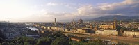 Panoramic overview of Florence from Piazzale Michelangelo, Tuscany, Italy Fine Art Print