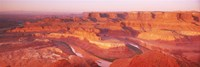 Dead Horse Point at sunrise in Dead Horse Point State Park, Utah, USA Fine Art Print