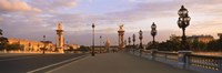 """Pont Alexandre III with the Hotel Des Invalides in the background, Paris, Ile-de-France, France by Panoramic Images - 27"""" x 9"""""""