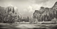 "River flowing through a forest, Merced River, Yosemite Valley, Yosemite National Park, California, USA by Panoramic Images - 27"" x 9"""