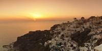Village on a cliff, Oia, Santorini, Cyclades Islands, Greece Fine Art Print