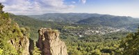 """Battert-rock formations, Baden-Baden, Baden-Wurttemberg, Germany by Panoramic Images - 27"""" x 9"""", FulcrumGallery.com brand"""