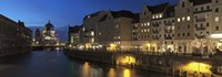 """Berlin Cathedral and Nikolaiviertel at Spree River, Berlin, Germany by Panoramic Images - 27"""" x 9"""""""