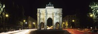 """Siegestor at Ludwigstrasse, Schwabing, Munich, Bavaria, Germany by Panoramic Images - 27"""" x 9"""", FulcrumGallery.com brand"""