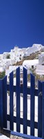 """Houses in a town, Oia, Santorini, Cyclades Islands, Greece by Panoramic Images - 9"""" x 27"""""""