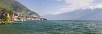 "Gargnano, Monte Baldo, Lake Garda, Lombardy, Italy by Panoramic Images - 27"" x 9"""