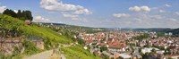 """Houses in a village, Stuttgart, Baden-Wurttemberg, Germany by Panoramic Images - 27"""" x 9"""", FulcrumGallery.com brand"""