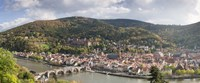 """Aerial view of a bridge across a river, Heidelberg, Baden-Wurttemberg, Germany by Panoramic Images - 27"""" x 9"""""""