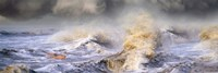 """Small boat in storm by Panoramic Images - 27"""" x 9"""""""