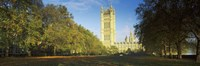 """Victoria Tower at a government building, Houses of Parliament, London, England by Panoramic Images - 27"""" x 9"""""""