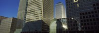 """Low angle view of towers, Canary Wharf Tower, South Quay, Isle of Dogs, London, England by Panoramic Images - 27"""" x 9"""""""