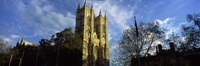 """Low angle view of an abbey, Westminster Abbey, City of Westminster, London, England by Panoramic Images - 27"""" x 9"""""""