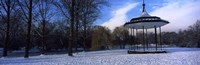 """Bandstand in snow, Regents Park, London, England by Panoramic Images - 27"""" x 9"""""""
