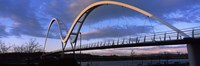 "Modern bridge over a river, Infinity Bridge, River Tees, Stockton-On-Tees, Cleveland, England by Panoramic Images - 27"" x 9"""
