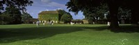"""Cricket match on the green at Crakehall, Bedale, North Yorkshire, England by Panoramic Images - 27"""" x 9"""""""