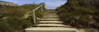 """Steps onto a beach, Pontusval, Brignogan-Plage, Brittany, France by Panoramic Images - 27"""" x 9"""""""