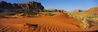"""Jebel Qatar from the valley floor, Wadi Rum, Jordan by Panoramic Images - 27"""" x 9"""""""