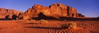"Rock formations in a desert, Jebel Um Ishrin, Wadi Rum, Jordan by Panoramic Images - 27"" x 9"""