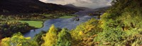 """Lake flowing through a forest, Loch Tummel, Pitlochry, Perthshire, Scotland by Panoramic Images - 27"""" x 9"""""""