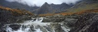 """Water falling from rocks, Sgurr a' Mhaim, Glen Brittle, Isle of Skye, Scotland by Panoramic Images - 27"""" x 9"""""""