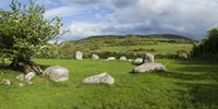 """Piper's Stone, Bronze Age Stone Circle (1400-800 BC) of 14 Granite Boulders, Near Hollywood, County Wicklow, Ireland by Panoramic Images, 1400 - 27"""" x 9"""""""