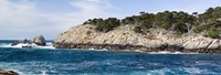 """Coastline, Point Lobos State Reserve, Carmel, Monterey County, California by Panoramic Images - 27"""" x 9"""""""