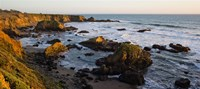 """Rocks on the coast, Cambria, San Luis Obispo County, California, USA by Panoramic Images - 27"""" x 12"""""""