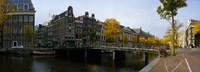 Bridge Over a Canal, Amsterdam, Netherlands Fine Art Print