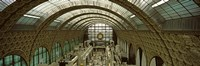 """Interiors of a museum, Musee d'Orsay, Paris, Ile-de-France, France by Panoramic Images - 27"""" x 9"""""""
