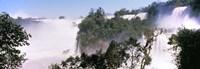 Floodwaters at Iguacu Falls Argentina-Brazil Border