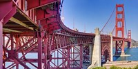 High dynamic range panorama showing structural supports for the bridge, Golden Gate Bridge, San Francisco, California, USA Framed Print