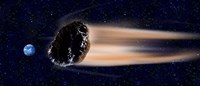"""Meteor coming at earth by Panoramic Images - 27"""" x 9"""""""