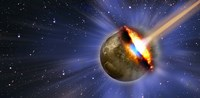 """Comet hitting earth by Panoramic Images - 27"""" x 9"""" - $28.99"""