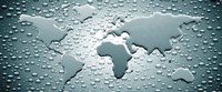 """Water drops forming continents (black and white) by Panoramic Images - 27"""" x 11"""""""