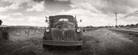 """Old truck in a field, Napa Valley, California, USA by Panoramic Images - 27"""" x 10"""""""