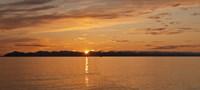 Ocean at sunset, Inside Passage, Alaska, USA Fine Art Print