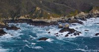 """Rock formations on the coast, Garrapata State Beach, Big Sur, Monterey County, California, USA by Panoramic Images - 27"""" x 9"""""""