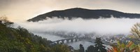 """City viewed from Philosopher's Way at morning, Heidelberg, Baden-Wurttemberg, Germany by Panoramic Images - 27"""" x 9"""""""