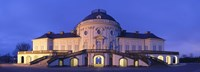 """Castle Solitude lit up at night, Stuttgart, Baden-Wurttemberg, Germany by Panoramic Images - 27"""" x 9"""""""