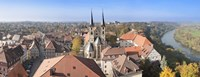 """Old town viewed from Blue Tower, Bad Wimpfen, Baden-Wurttemberg, Germany by Panoramic Images - 27"""" x 9"""""""