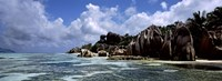 """Rock formations at the coast, Anse Source d'Argent, La Digue Island, Seychelles by Panoramic Images - 27"""" x 9"""""""