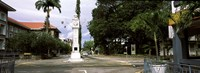 """Clock tower in a city, Victoria, Mahe Island, Seychelles by Panoramic Images - 27"""" x 9"""""""